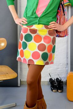 Retro-Rock mit Punkten // 60s skirt with big dots via DaWanda.com