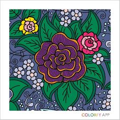 new adult coloring book app, fun! My first masterpiece. Coloring Book App, Coloring Apps, Online Coloring, Adult Coloring, Peace Love World, Zen Art, Pretty Art, Colorful Flowers, Flower Art