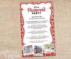 A Pinterest Party - Girls' Night Idea - See all the details @ pigskinsandpigtails.com