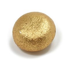 Susie Ganch   Gold Soot Ball Brooch - Sienna Gallery Enamel, gold leaf, steel 1 inch diameter  one of a kind