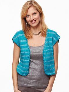 Glamorous Top | Yarn | Free Knitting Patterns | Crochet Patterns | Yarnspirations