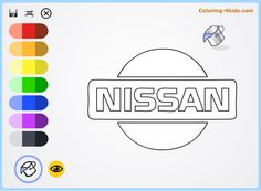 nissan logo coloring pages online cars logos coloring pages coloring 4kids
