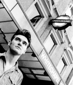 Morrissey in Whitechapel, London ― photo by Paul Spencer (2000).