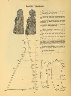 What We Did When The Power Went Out (Sewing In Walden): Ladies' Polonaise 1888