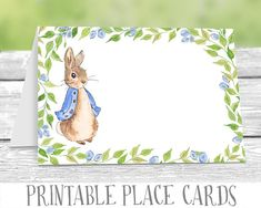 This item is unavailable Peter Rabbit Party, Peter Rabbit Birthday, Baby Shower Items, Baby Shower Niño, Baby Shower Cards, Birthday Party Places, Birthday Cards, Baby Birthday, Baby Shower Buffet