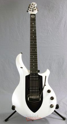 Music Man Majesty 6 John Petrucci Signature Guitar | Glacial Frost Finish