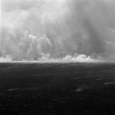 "Grassfire, Flint Hills, 2006, series 'West & West', carbon pigment print, 24""x24"", Joe Deal"