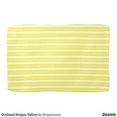 Outlined Stripes Yellow Hand Towel #towel #kitchentowel #kitchentools #kitchendesign #kitchendecor #homedecor #interiordesign