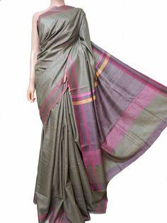 Buy Mehendi Green Handloom Dyed Silk Saree-data/Jharkhand/LWJSJCJ39099_Handloom_Dyed_Silk_Saree.JPG