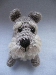 Schnauzer crochet.  Too bad I don't know how to crochet.  Luckily, my mom can!