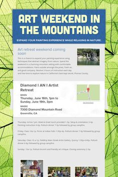 Art Weekend in the Mountains