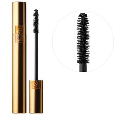 color - burgandy - What it is:A mascara that achieves high volume and a dramatic false lash effect.  What it does:Flaunt bigger-than-life lashes when you brush on this mascara from Yves Saint Laurent. This non-drying formula is enriched with B5 pro-vitamin, which dee