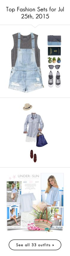 Top Fashion Sets for Jul 25th, 2015 by polyvore on Polyvore featuring moda, MANGO, H&M, Oliver Peoples, rag & bone, Superga, Caroline De Marchi, Zara, River Island and Forever 21