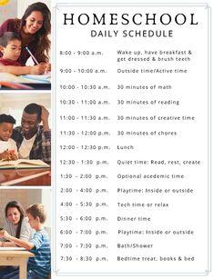 Free Printable Daily Homeschool Schedule