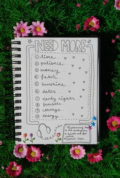 """Need More.."" #scrapbook #journal #page #list"