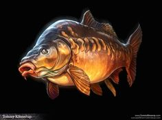 Fish Art by Tommy Kinnerup – Drowning Worms – Fish Supplies Carp Fishing Tips, Fly Fishing, Fishing Tackle, Fishing Lures, Fishing Basics, Fishing Knots, Fishing Guide, Saltwater Fishing, Pesca Spinning