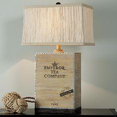 Emperor Tea Company Box Table Lamp