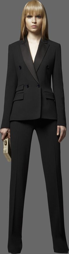 #ELIE SAAB - Ready-to-Wear - Pre-Fall 2012  *2 piece fashion must have. Tux jacket can be worn w/ jeans and pants w/ a white button down and jeans jacket*