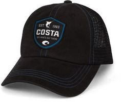 Black Costa Shield Trucker Hat.