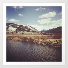 Looking Over the Creek at the Gros Ventre Mountain Range, Wyoming Art Print by Stephanie Baker - $16.00