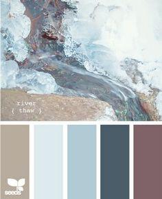 color pallete /love the blues n browns neutral