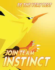 Pokemon Go: Team Instinct Propaganda Poster - Aaron Wood Catch Em All, Geek Out, Pokemon Go, Lotr, Nerdy, Geek Stuff, Etsy Shop, Anime, Posters