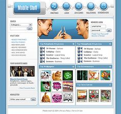 Mobile Stuff SWiSH Templates by Hugo Mobile Website Template, Flash Templates, Content, Entertaining, Funny