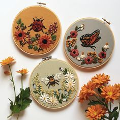 Grand Sewing Embroidery Designs At Home Ideas. Beauteous Finished Sewing Embroidery Designs At Home Ideas. Flower Embroidery Designs, Simple Embroidery, Hand Embroidery Stitches, Embroidery Hoop Art, Cross Stitch Embroidery, Floral Embroidery, Butterfly Embroidery, Shirt Embroidery, Embroidery Ideas