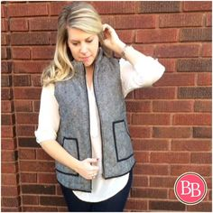 **RESTOCKED & NEW STYLE** Your FAVE Herringbone Knit Vest has been restocked BB Girls!! And we also have it in GREY!!! Check it out at {brandisboutiqueshop.co}! #BBGirls #vestseason #herringbonevest #fallfashion #bestseller