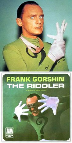 "Frank Gorshin ""The Riddler"" (1966) novelty single — 45 rpm record sleeve"