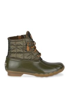 eb8a2b383d3 Sperry Women s Top-Sider Saltwater Duck Boot - Dark Olive - 9.5M Boots For