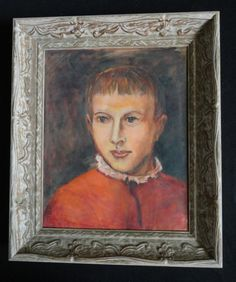Vintage Antique Oil Painting Portrait of a by ArtsnCollectibles, $365.00