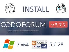 Install #Codoforum v.3.7.2 with XAMPP 5.6.28 on Windows 7 x64 localhost - #opensource #PHP #forum