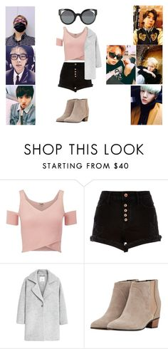 """""""Hanging out with BTS"""" by xxxdragon ❤ liked on Polyvore featuring Lipsy, River Island, MANGO, Golden Goose and Fendi"""