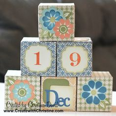 Rock the block perpetual calander by Christine David...so cute and great instructions on her blog.