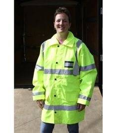 BRITISH HIGH VIS RAIN PARKA