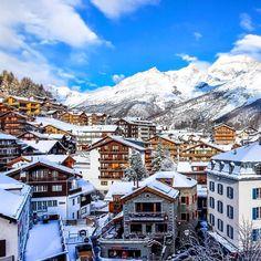 Saas- Fee Valais #. Photography by : @Torwayn #Switzerland_Vacations by switzerland.vacations