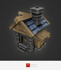 3DOcean Low Poly RTS Human House 4308768