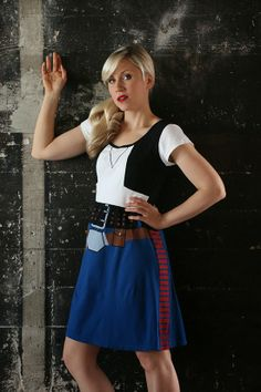 Her Universe Returns to Star Wars Weekends with a Cute New Star Wars Fashion Collection Ashley in Han Solo Costume Dress Geek Fashion, Star Fashion, Fashion Outfits, Fandom Fashion, Fashion Trends, Disney Stars, Han Solo Kostüm, Costume Star Wars, Ashley Eckstein