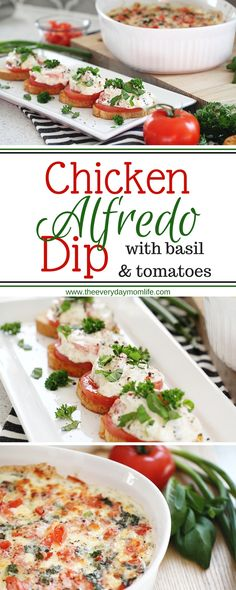 Chicken Alfredo Dip Appetizer My husband is a sucker for Chicken Alfredo. Throughout our early dating life it was his go-to dish anytime . Potato Appetizers, Appetizer Dips, Appetizer Recipes, Supper Recipes, Pre Cooked Chicken, How To Cook Chicken, Charcuterie, Chicken Alfredo, Healthy Recipes