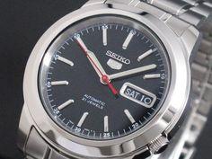 AAA net shop | Rakuten Global Market: SEIKO 5 SEIKO 5 reimportation self-winding watch men watch SNKE53K1 black X silver metal belt