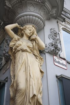 """classical-beauty-of-the-past: """"Caryatid by Peter Graben, Vienna """" Historical Architecture, Ancient Architecture, Greek Art, Ancient Art, Aesthetic Art, Art History, Sculpting, Fine Art, Portrait"""