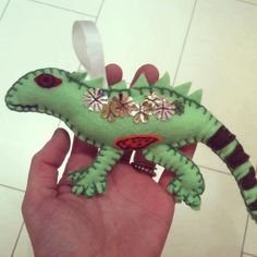 Dragon Iguana Lizard Reptile Plush by TheButtonBasher on Etsy, €9.00
