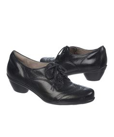 Another great find on #zulily! Black Hampshire Leather Oxford #zulilyfinds