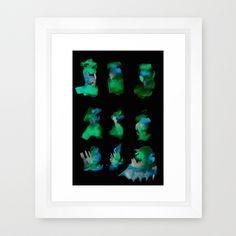 160122 Summer Shadows #97 Framed Art Print #watercolor #digitalart #homedecor #interiordesign #abstract #framedart