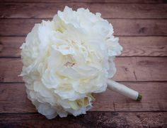 Ivory Peony Wedding Bouquet by KateSaidYes on Etsy