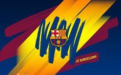 Barcelona, art, logo, Barca, Catalonia, creative