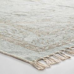 5'x8' Gray Woven Cotton Naomi Area Rug | World Market