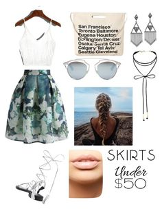 """""""Yo"""" by pastelxcream on Polyvore featuring mode, Chicwish, Chicnova Fashion, Christian Dior, House of Harlow 1960, Miss Selfridge, MDMflow, under50 et skirtunder50"""