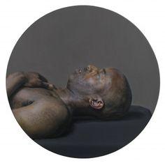 Craig Wylie, MD(breath), 2013, Oil on board, 30 cm diameter, Courtesy Galerie Dukan   Galerie Dukan